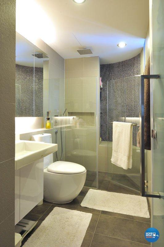 Contemporary, Modern Design - Bathroom - Condominium - Design by Crescendo Interior & Lifestyle Pte Ltd