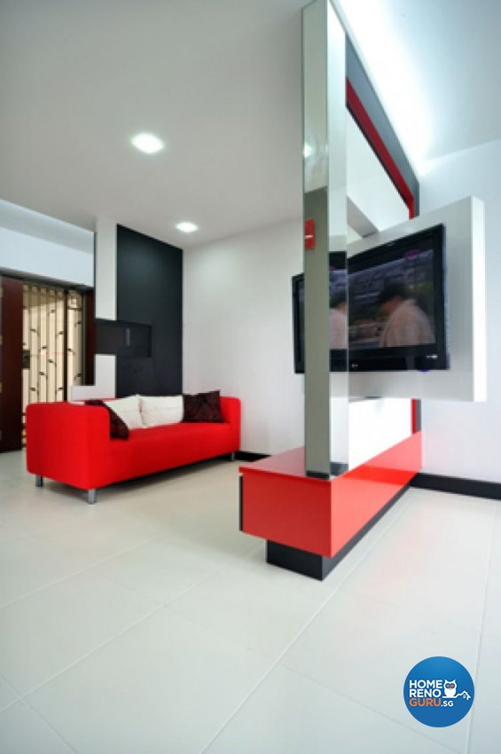 Contemporary, Minimalist, Modern Design - Living Room - HDB 4 Room - Design by Crescendo Interior & Lifestyle Pte Ltd