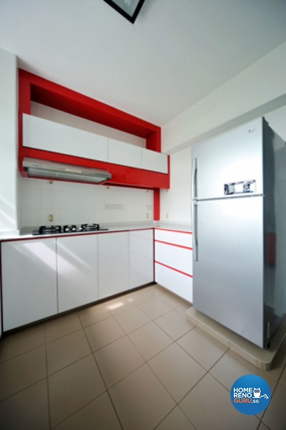 Contemporary, Minimalist, Modern Design - Kitchen - HDB 4 Room - Design by Crescendo Interior & Lifestyle Pte Ltd