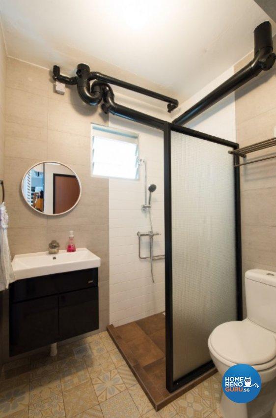 Contemporary, Modern Design - Bathroom - HDB 4 Room - Design by Crescendo Interior & Lifestyle Pte Ltd