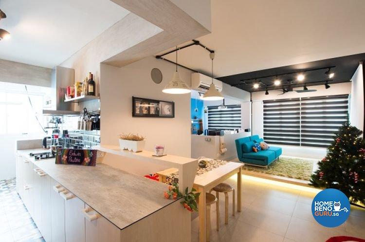 Contemporary, Modern Design - Living Room - HDB 4 Room - Design by Crescendo Interior & Lifestyle Pte Ltd