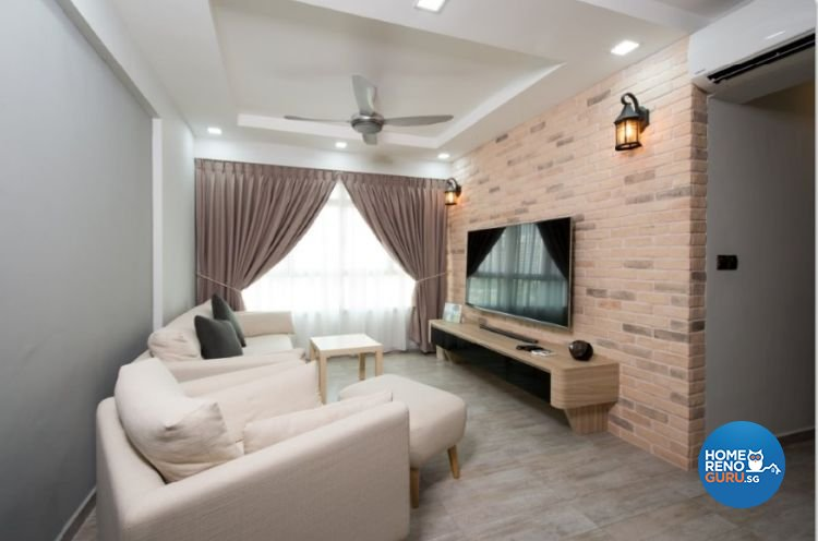 Contemporary, Country, Modern Design - Living Room - HDB 4 Room - Design by Crescendo Interior & Lifestyle Pte Ltd