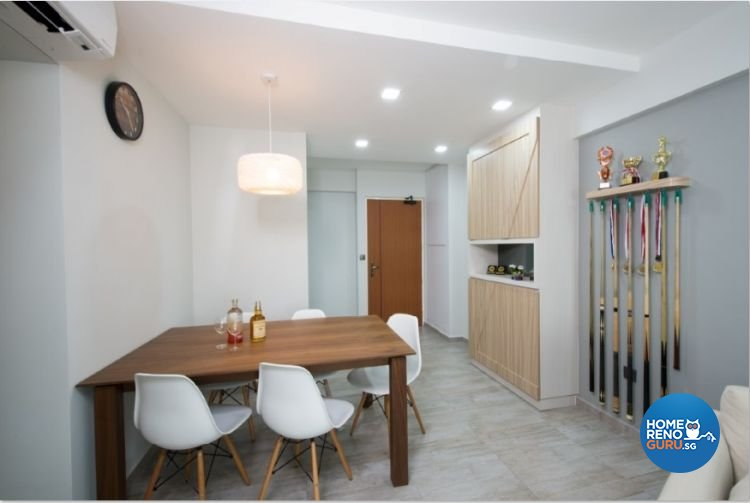 Contemporary, Country, Modern Design - Living Room - HDB 4 Room - Design by Crescendo Interior & Lifestyle Pte Ltd
