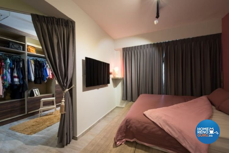 Contemporary, Country, Modern Design - Bedroom - HDB 4 Room - Design by Crescendo Interior & Lifestyle Pte Ltd