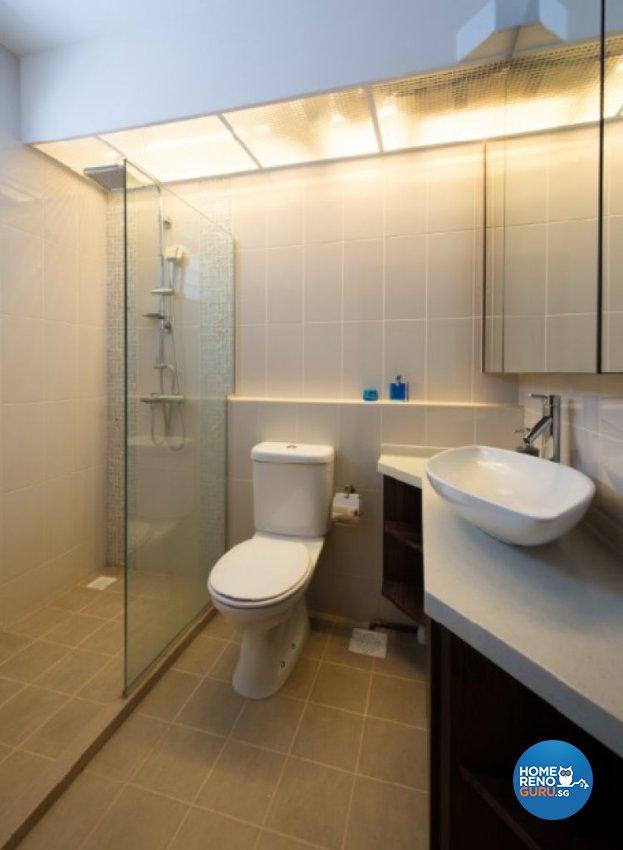 Contemporary, Country, Modern Design - Bathroom - HDB 4 Room - Design by Crescendo Interior & Lifestyle Pte Ltd