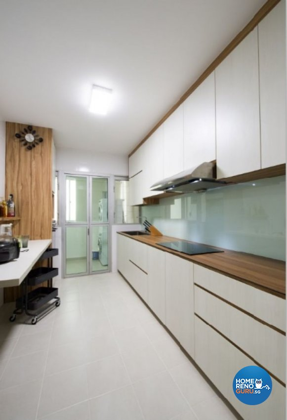 Contemporary, Country, Modern Design - Kitchen - HDB 4 Room - Design by Crescendo Interior & Lifestyle Pte Ltd
