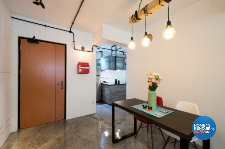 Contemporary, Industrial, Modern Design - Dining Room - HDB 4 Room - Design by Crescendo Interior & Lifestyle Pte Ltd