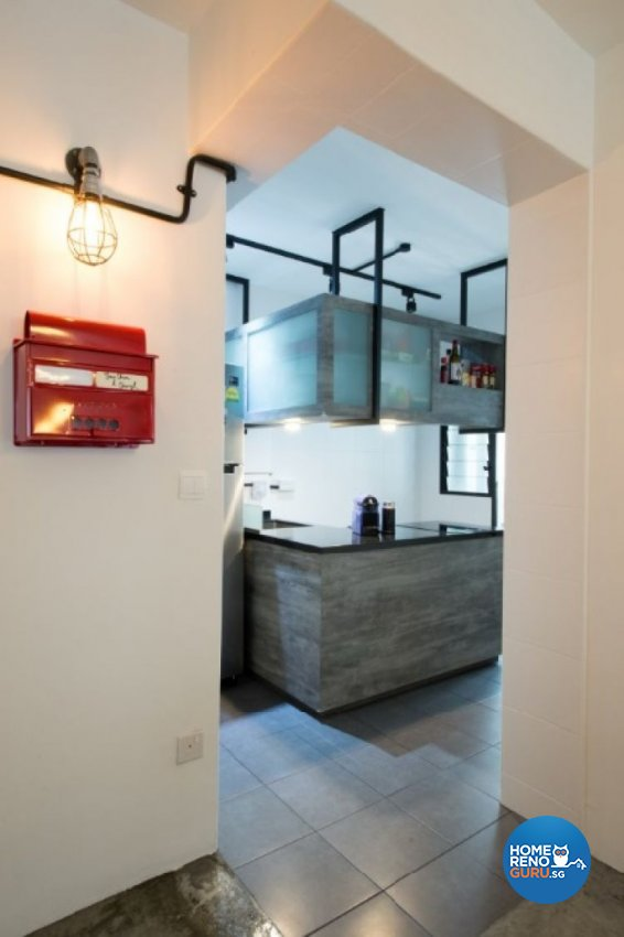 Contemporary, Industrial, Modern Design - Kitchen - HDB 4 Room - Design by Crescendo Interior & Lifestyle Pte Ltd