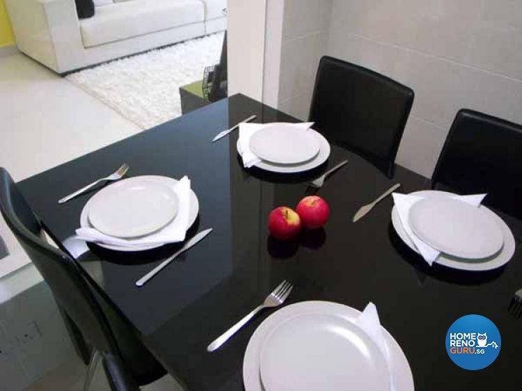 Contemporary, Modern, Retro Design - Dining Room - HDB 4 Room - Design by Crescendo Interior & Lifestyle Pte Ltd