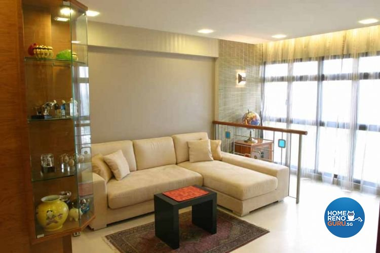 Contemporary, Modern, Tropical Design - Living Room - HDB 5 Room - Design by Crescendo Interior & Lifestyle Pte Ltd