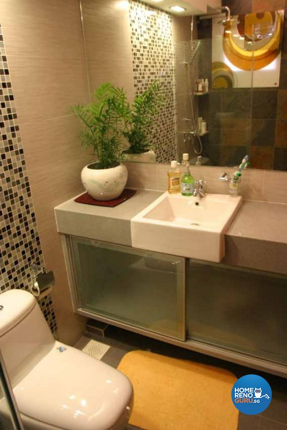 Contemporary, Modern, Tropical Design - Bathroom - HDB 5 Room - Design by Crescendo Interior & Lifestyle Pte Ltd