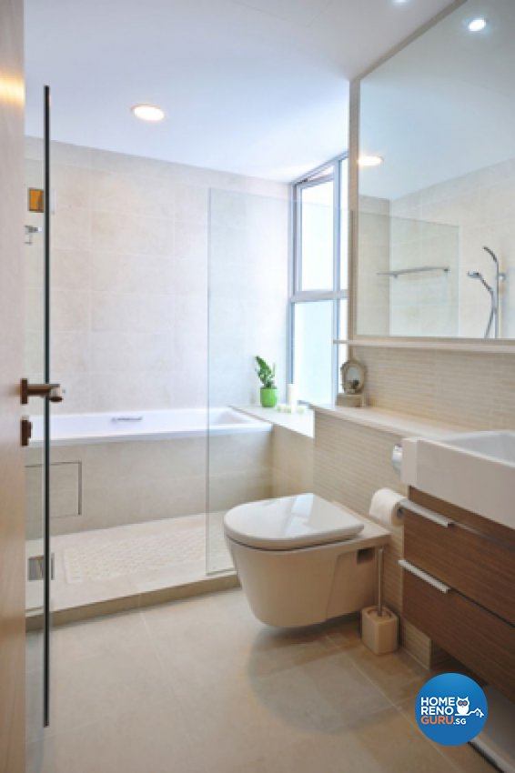 Contemporary, Minimalist, Modern Design - Bathroom - Condominium - Design by Crescendo Interior & Lifestyle Pte Ltd