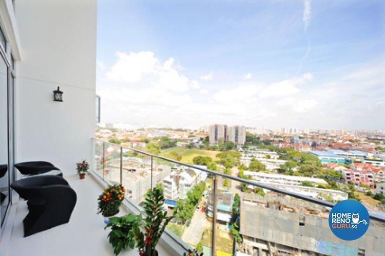 Contemporary, Minimalist, Modern Design - Balcony - Condominium - Design by Crescendo Interior & Lifestyle Pte Ltd
