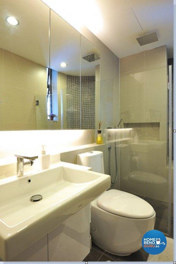 Contemporary, Modern, Tropical Design - Bathroom - Condominium - Design by Crescendo Interior & Lifestyle Pte Ltd