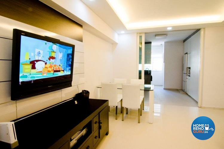Contemporary, Modern Design - Living Room - HDB 4 Room - Design by Crescendo Interior & Lifestyle Pte Ltd