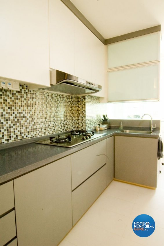 Contemporary, Modern Design - Kitchen - HDB 4 Room - Design by Crescendo Interior & Lifestyle Pte Ltd