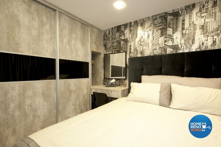 Minimalist, Modern Design - Bedroom - HDB 5 Room - Design by Crescendo Interior & Lifestyle Pte Ltd