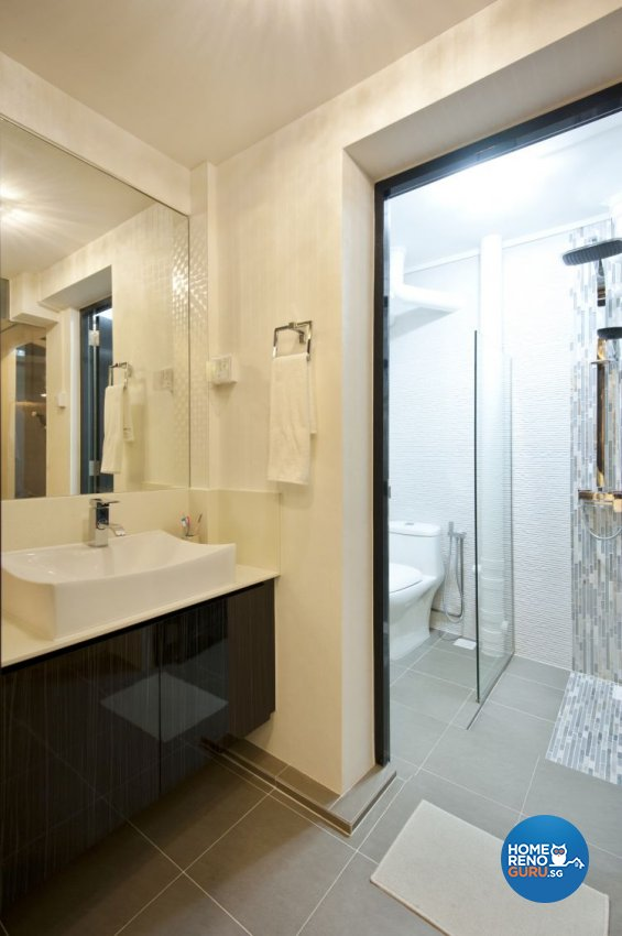 Minimalist, Modern Design - Bathroom - HDB 5 Room - Design by Crescendo Interior & Lifestyle Pte Ltd