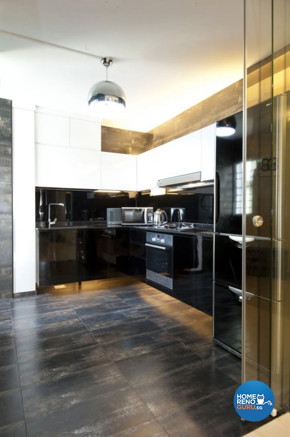 Minimalist, Modern Design - Kitchen - HDB 5 Room - Design by Crescendo Interior & Lifestyle Pte Ltd