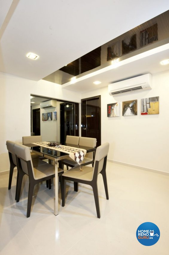 Minimalist, Modern Design - Dining Room - HDB 5 Room - Design by Crescendo Interior & Lifestyle Pte Ltd