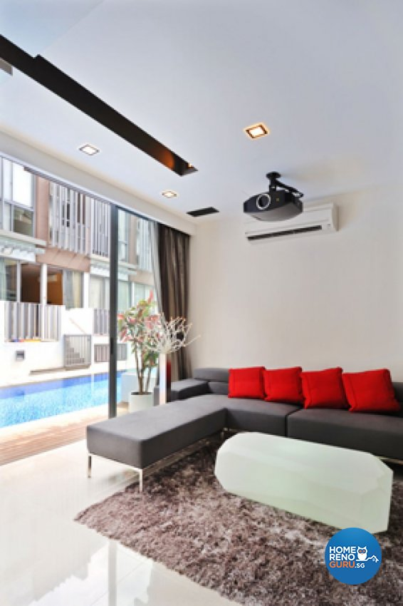 Contemporary, Modern Design - Living Room - Landed House - Design by Crescendo Interior & Lifestyle Pte Ltd
