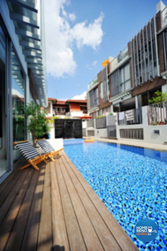 Contemporary, Modern Design - Balcony - Landed House - Design by Crescendo Interior & Lifestyle Pte Ltd