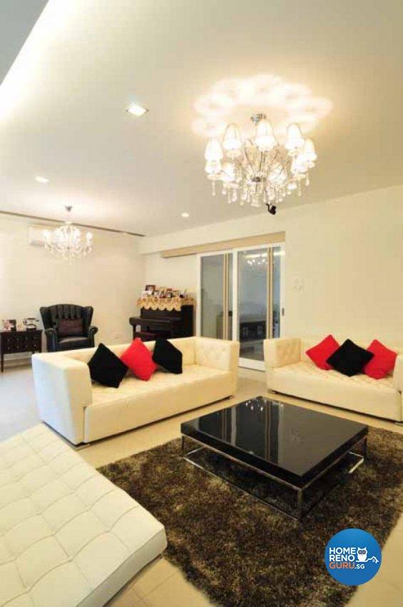 Classical, Contemporary, Modern Design - Living Room - Landed House - Design by Crescendo Interior & Lifestyle Pte Ltd