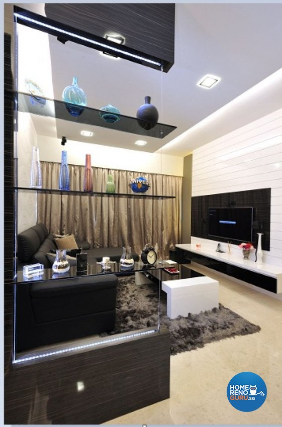 Contemporary, Modern Design - Living Room - Condominium - Design by Crescendo Interior & Lifestyle Pte Ltd