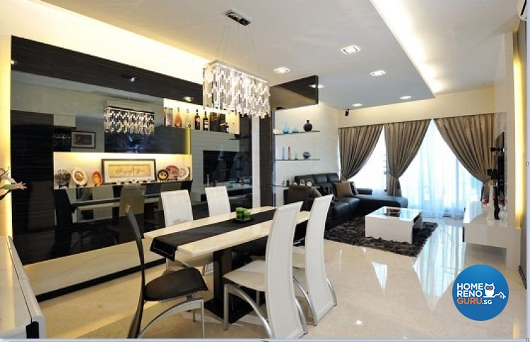 Contemporary, Modern Design - Dining Room - Condominium - Design by Crescendo Interior & Lifestyle Pte Ltd