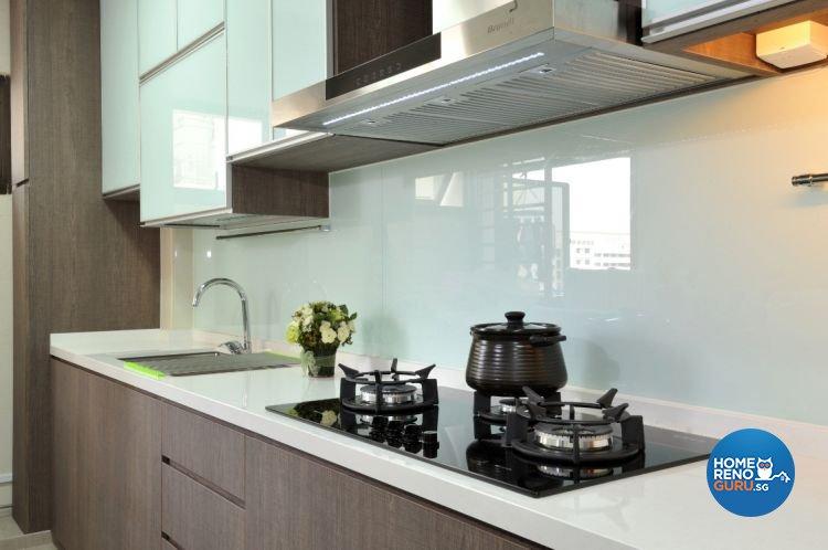 Contemporary, Modern Design - Kitchen - HDB 5 Room - Design by Crescendo Interior & Lifestyle Pte Ltd
