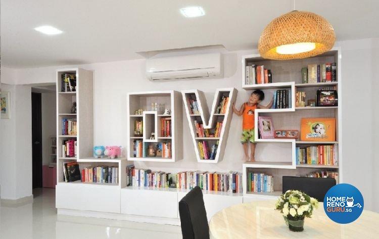 Contemporary, Modern Design - Living Room - HDB 5 Room - Design by Crescendo Interior & Lifestyle Pte Ltd