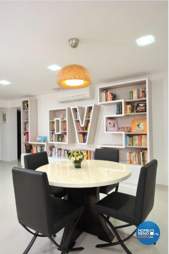 Contemporary, Modern Design - Dining Room - HDB 5 Room - Design by Crescendo Interior & Lifestyle Pte Ltd