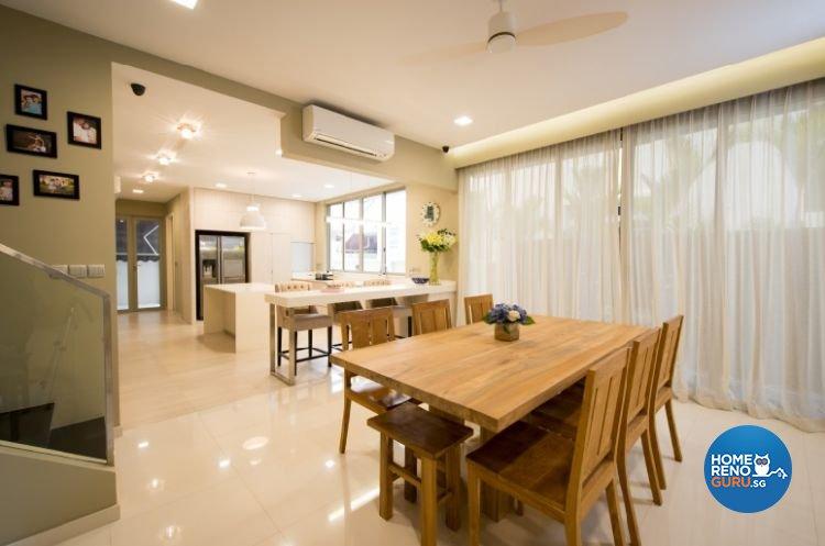 Contemporary, Minimalist, Modern Design - Dining Room - Landed House - Design by Crescendo Interior & Lifestyle Pte Ltd