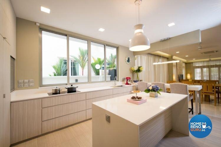 Contemporary, Minimalist, Modern Design - Kitchen - Landed House - Design by Crescendo Interior & Lifestyle Pte Ltd