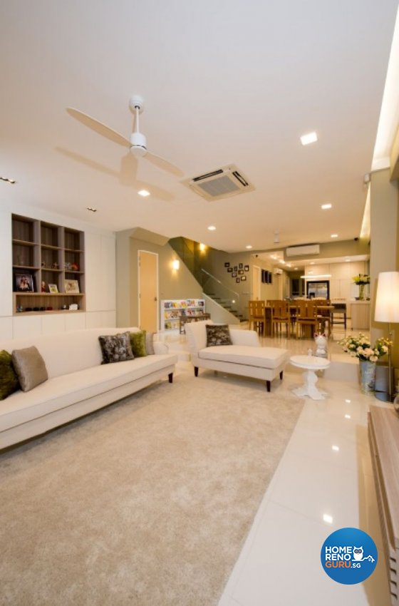 Contemporary, Minimalist, Modern Design - Living Room - Landed House - Design by Crescendo Interior & Lifestyle Pte Ltd
