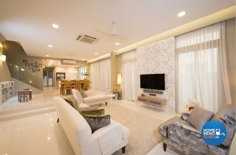 Contemporary, Minimalist, Modern Design - Living Room - Landed House - Design by Crescendo Interior & Lifestyle Pte Ltd