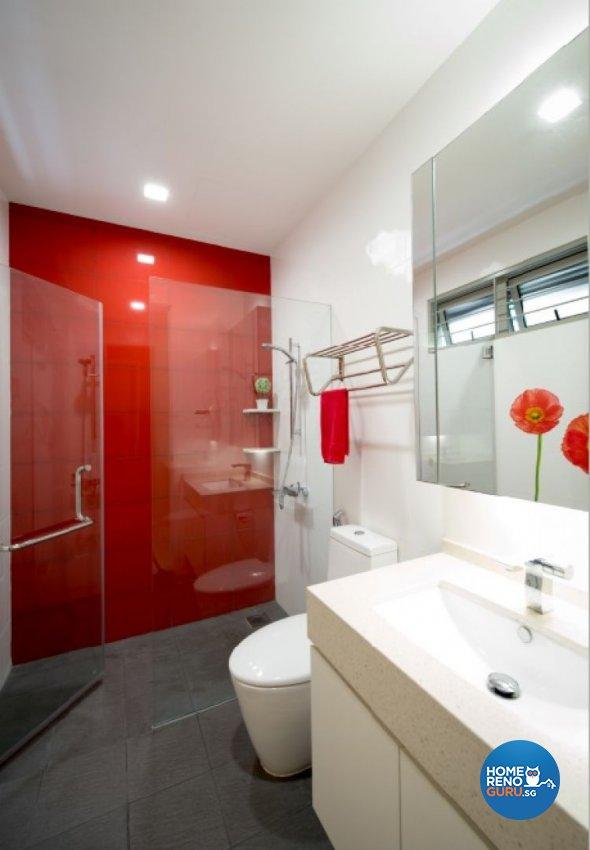 Contemporary, Minimalist, Modern Design - Bathroom - Landed House - Design by Crescendo Interior & Lifestyle Pte Ltd