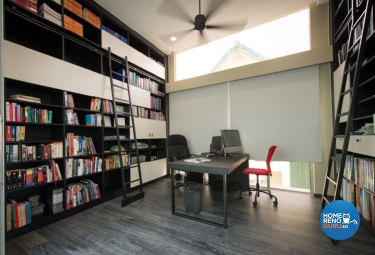 Contemporary, Minimalist, Modern Design - Study Room - Landed House - Design by Crescendo Interior & Lifestyle Pte Ltd
