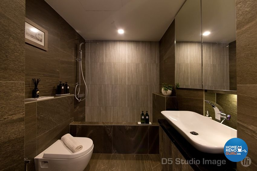 Scandinavian Design - Bathroom - Condominium - Design by D5 Studio Image Pte Ltd