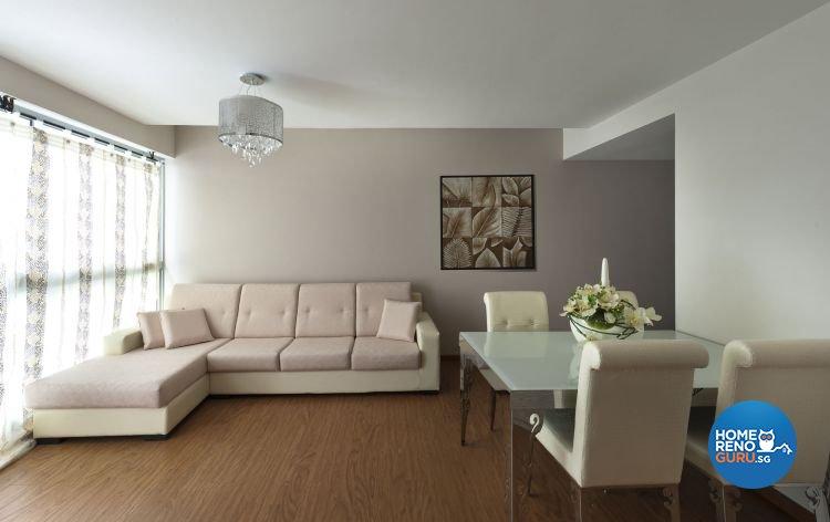 Contemporary Design - Living Room - HDB 4 Room - Design by D5 Studio Image Pte Ltd