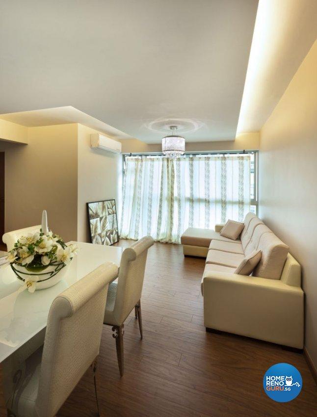 Contemporary Design - Dining Room - HDB 4 Room - Design by D5 Studio Image Pte Ltd