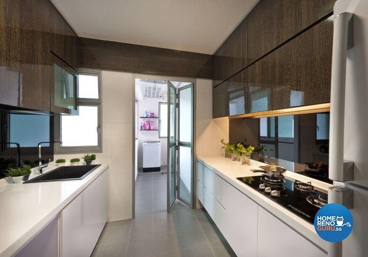 Contemporary Design - Kitchen - HDB 4 Room - Design by D5 Studio Image Pte Ltd