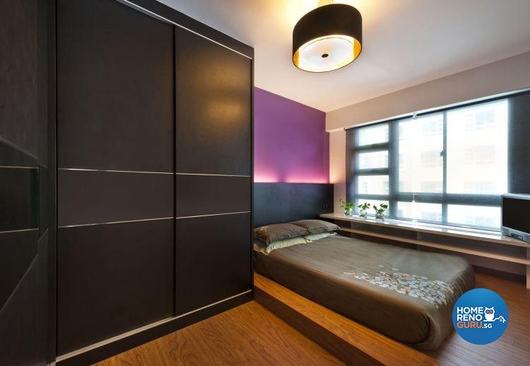 Contemporary Design - Bedroom - HDB 4 Room - Design by D5 Studio Image Pte Ltd