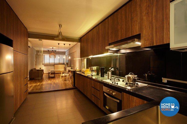 Retro Design - Kitchen - HDB 3 Room - Design by D5 Studio Image Pte Ltd