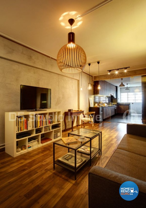 Retro Design - Living Room - HDB 3 Room - Design by D5 Studio Image Pte Ltd