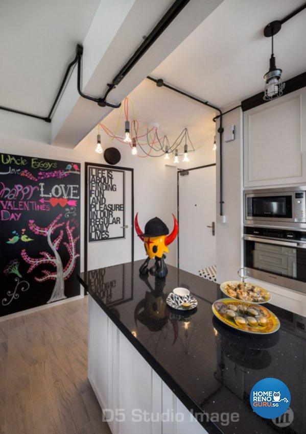 Industrial Design - Kitchen - HDB 5 Room - Design by D5 Studio Image Pte Ltd