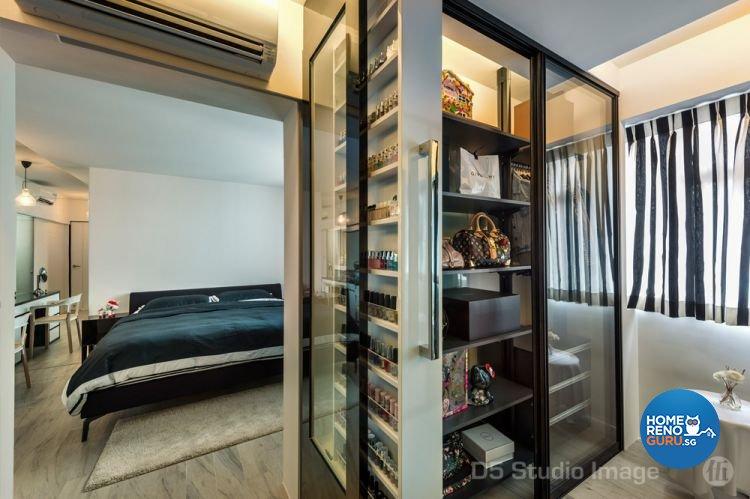 Industrial Design - Bedroom - HDB 5 Room - Design by D5 Studio Image Pte Ltd