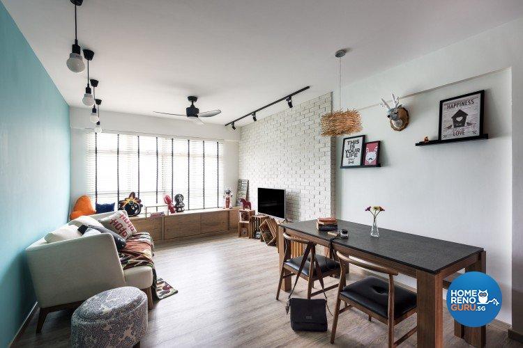 Scandinavian Design - Living Room - HDB 4 Room - Design by D5 Studio Image Pte Ltd