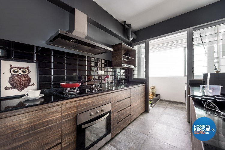 Scandinavian Design - Kitchen - HDB 4 Room - Design by D5 Studio Image Pte Ltd