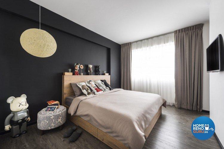 Scandinavian Design - Bedroom - HDB 4 Room - Design by D5 Studio Image Pte Ltd